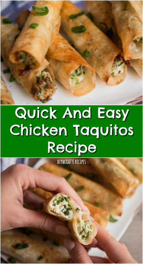 Quick And Easy Chicken Taquitos Quick And Easy Chicken Taquitos Recipe - My family loves when we do Mexican food, and I am always on the lookout for a tasty, yet quick and easy Mexican recipe. I was so excited when I came across this chicken taquitos recipe.