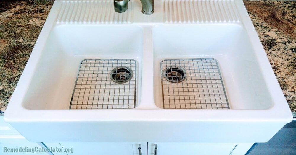 Ikea Domsjo Double Bowl Sink With Stainless Steel Grids Ikea Kitchen Sink Ikea Farm Sink Ikea Farmhouse Sink