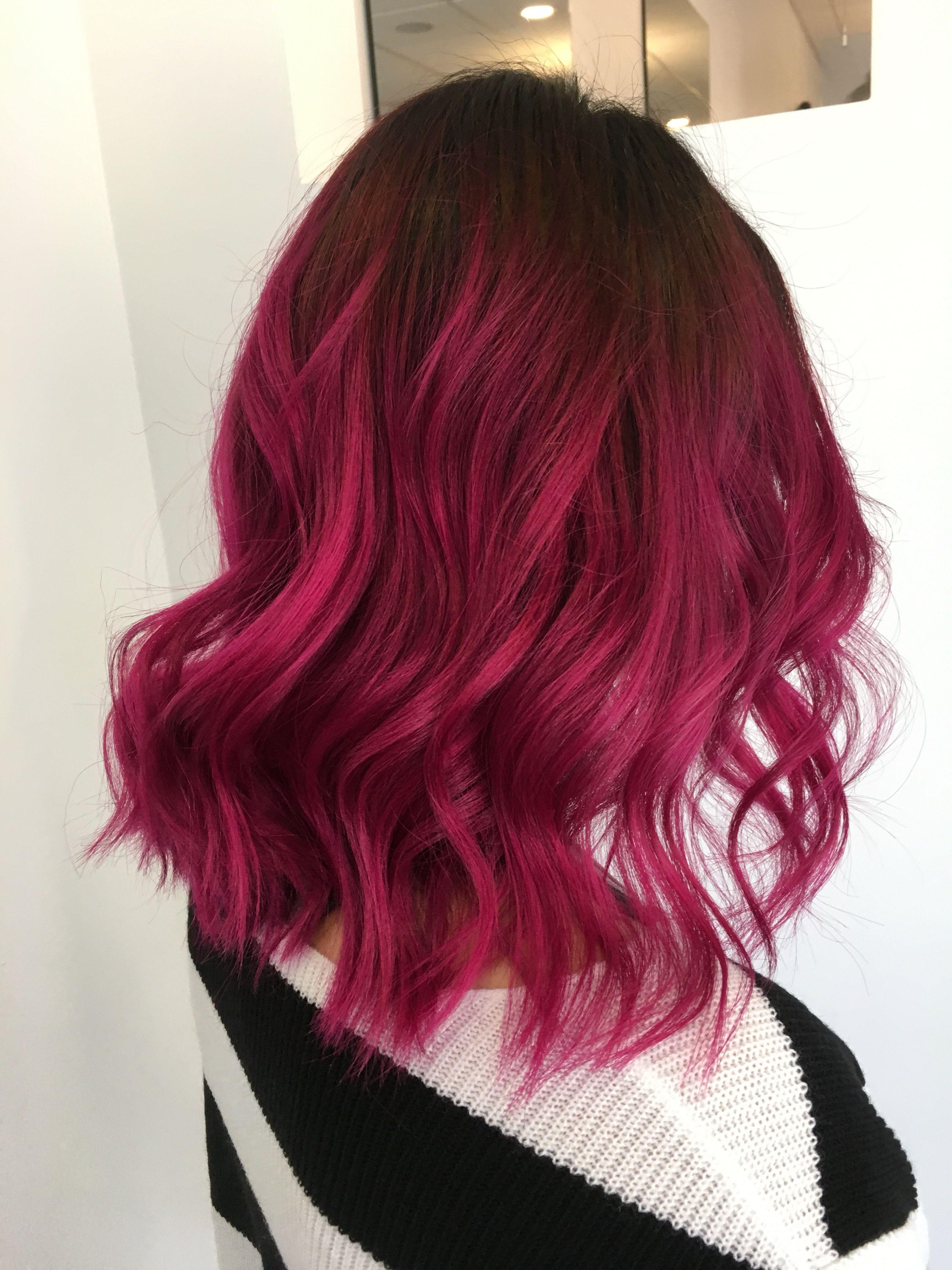 Magenta Hair Dark Pink Hair Pink Hair Dye Hair Color Pink
