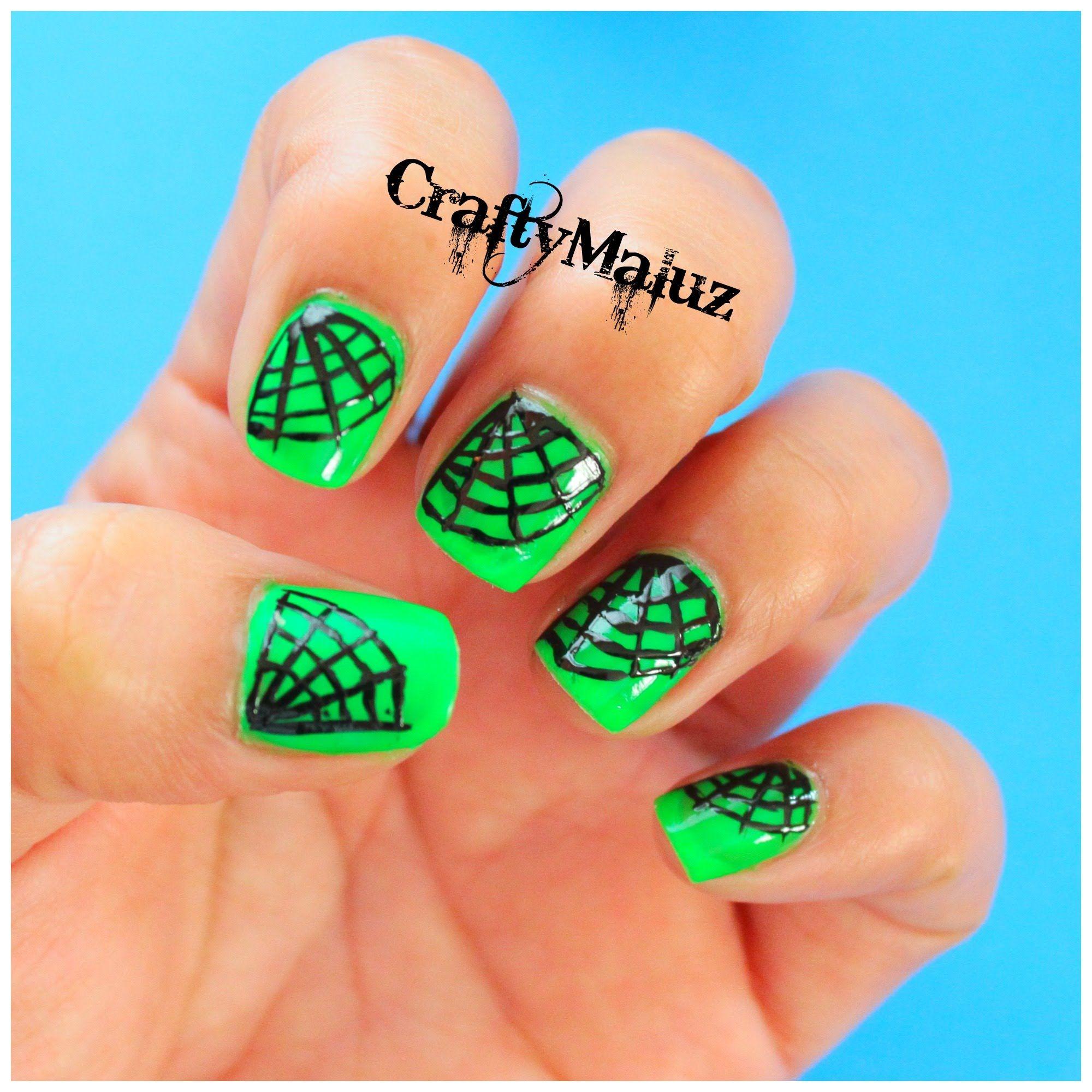 DIY ♥ Diseño de uñas telaraña (HALLOWEEN) Diseño de uñas fáciles ...