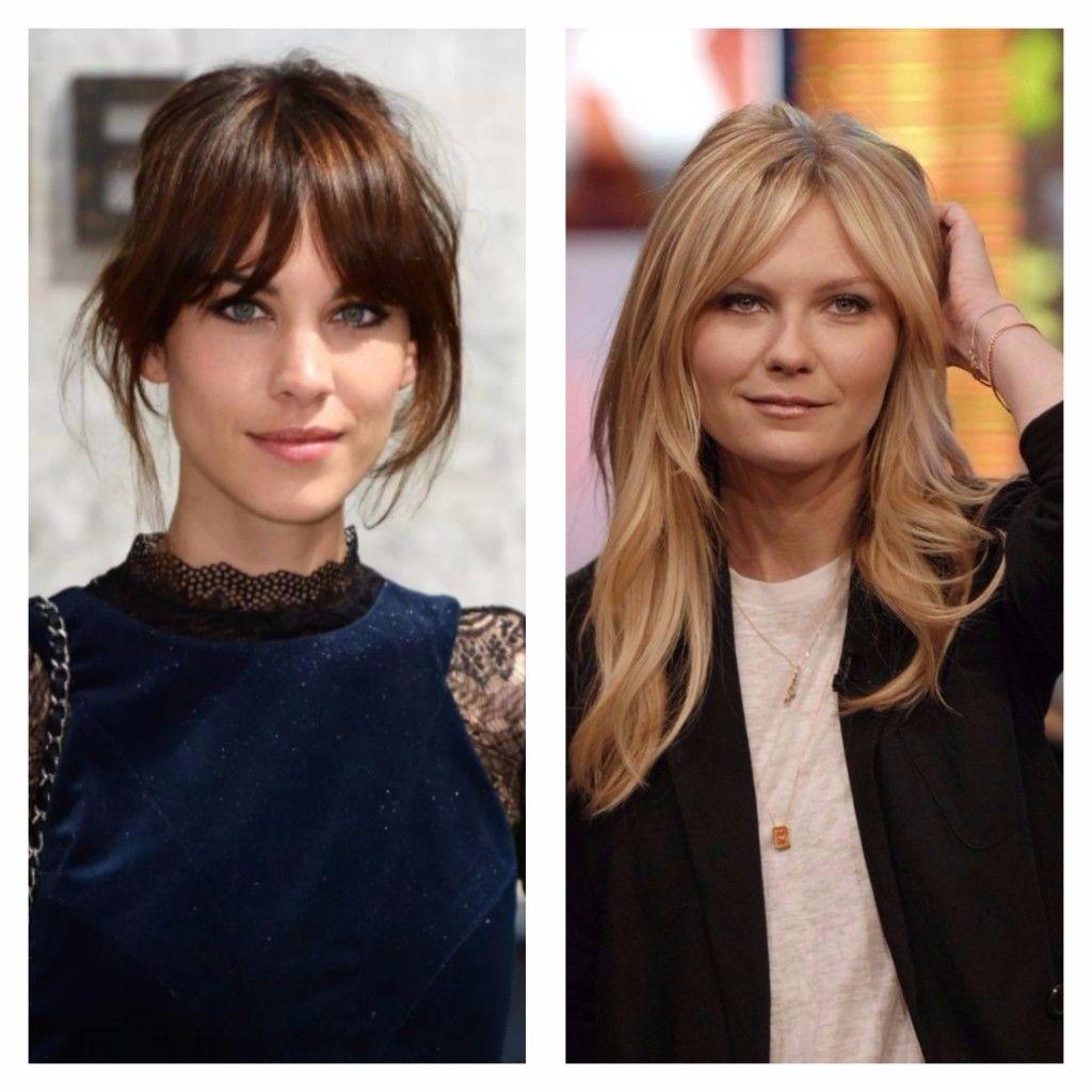 Alexa Chung And Kirsten Dunst Curtain Bangs Bardot Bangs