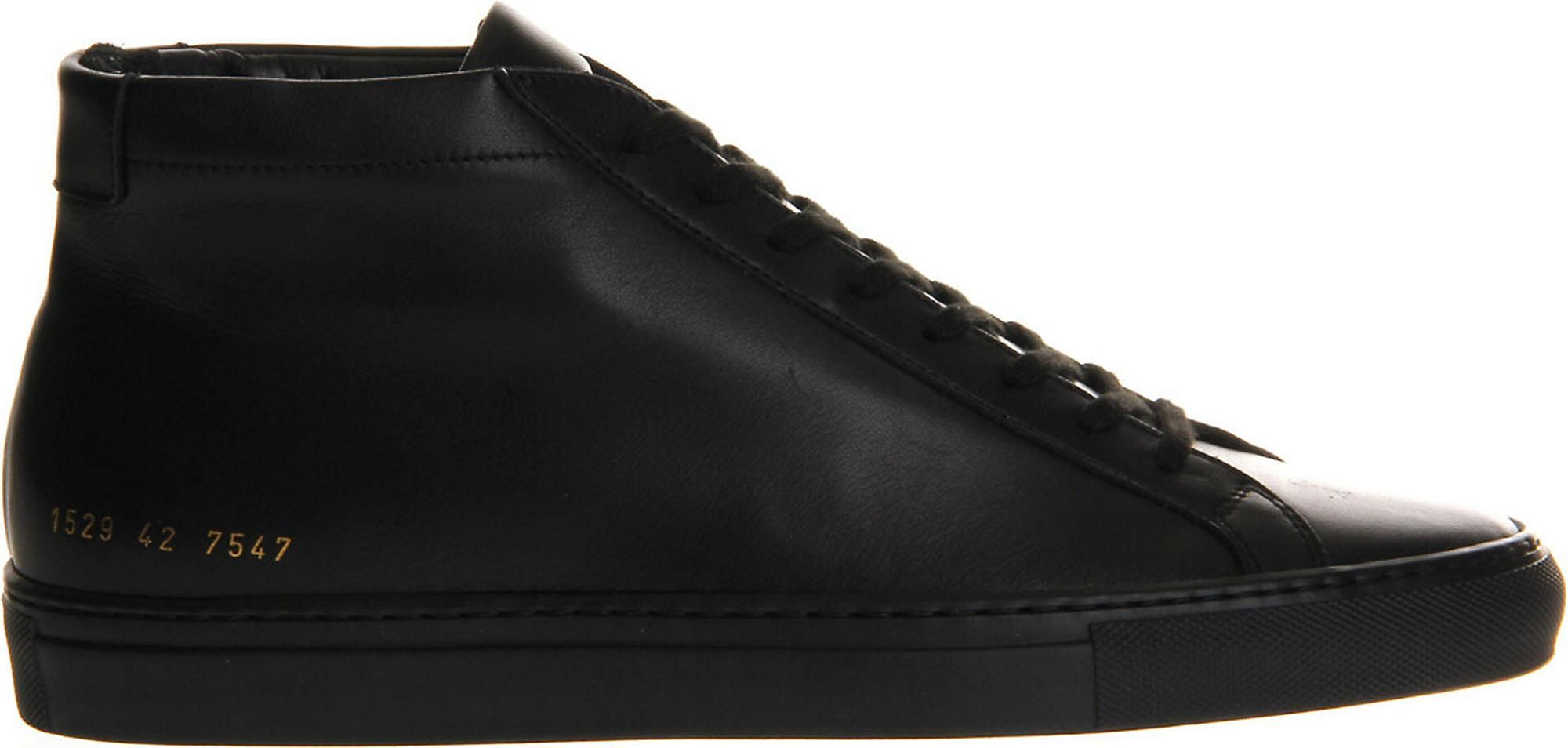 Common Projects Black Achillles Leather