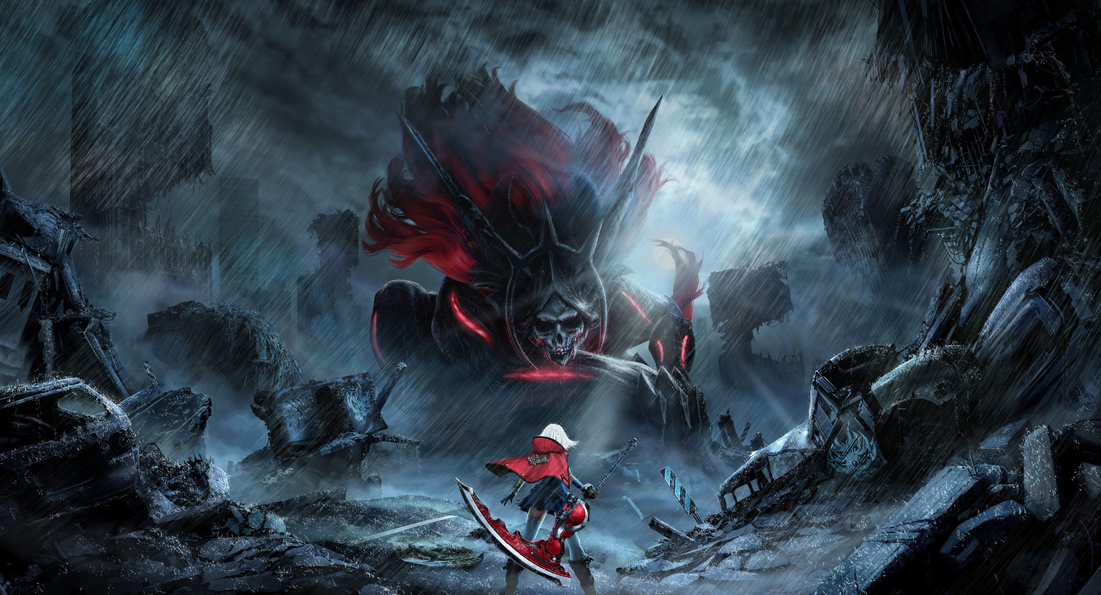 3840x2075 god eater 2 4k high def wallpaper Cover