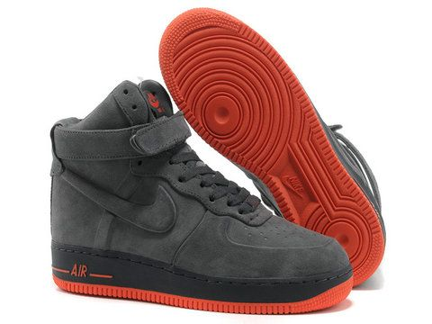 detailed look b9c02 f91f8 Nike Air Force 1 High VT PRM Suede Anthracite Orange