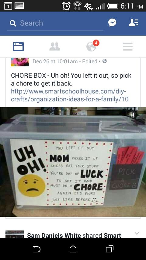 Pick A Chore Mother knows best, Chores, Craft organization