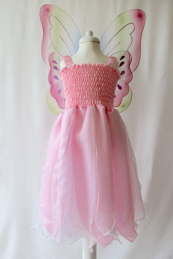 Pink Fairy Dress, Pink Girl\'s Dress, Princess Dress, Baby Fairy ...