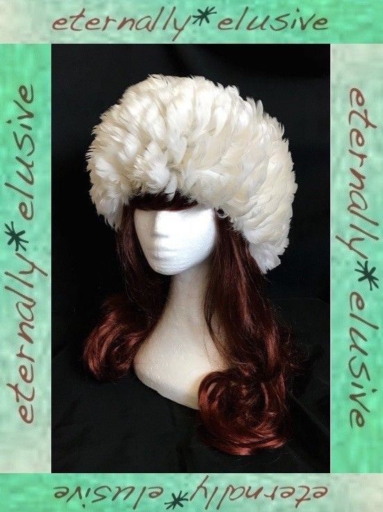 Genuine Vintage 50s 60s Mod Twiggy White Feather Bubble Wig Hat Women  Ladies FAB 773daa5b1e