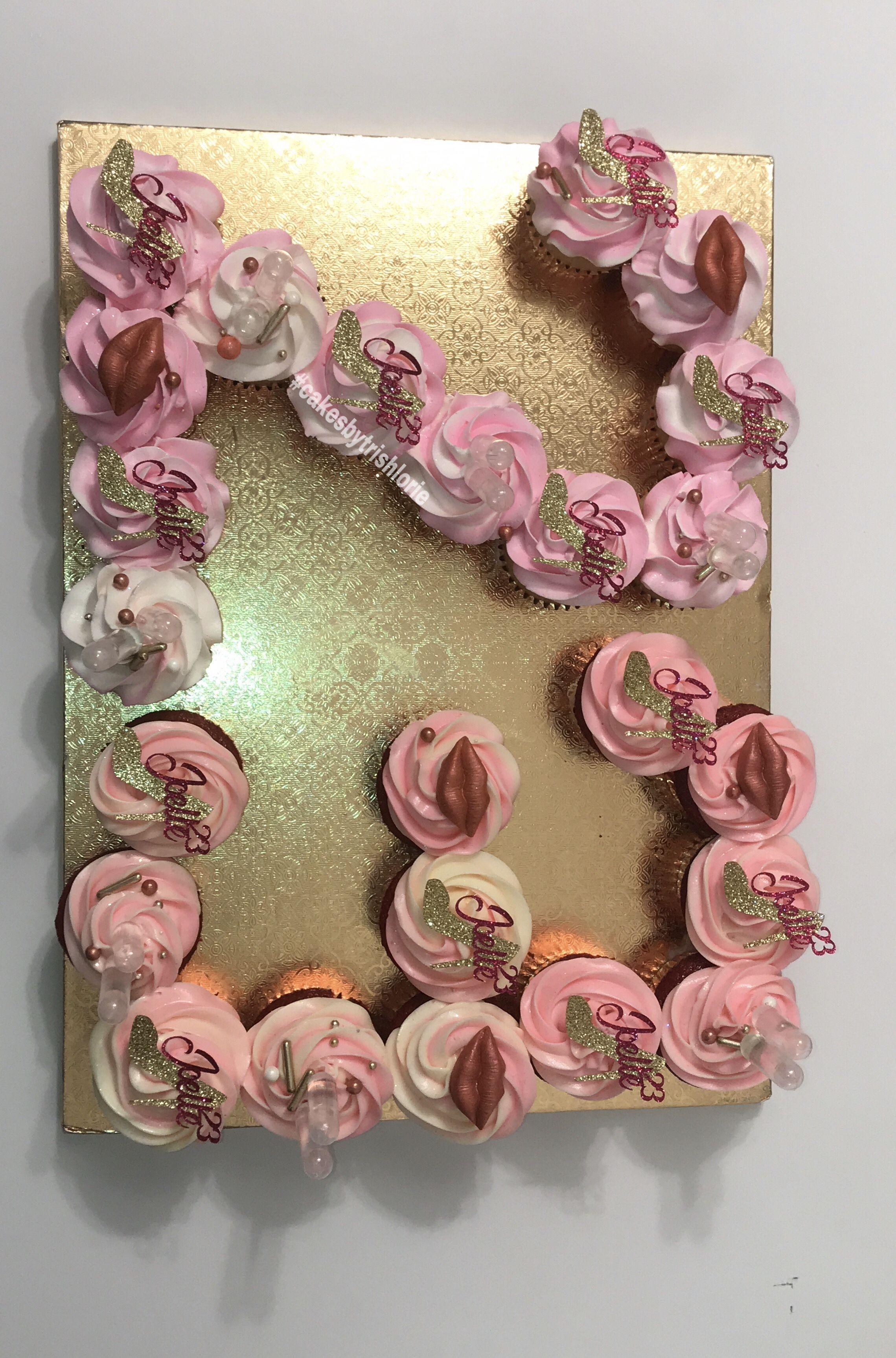 Number Cupcakes 23 Cupcakes 7up Cake Recipe 23rd Birthday
