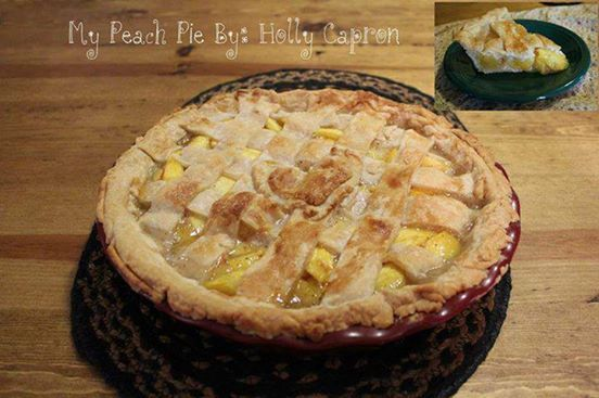 Peach Pie  By Holly Capron This Side Of The Fence