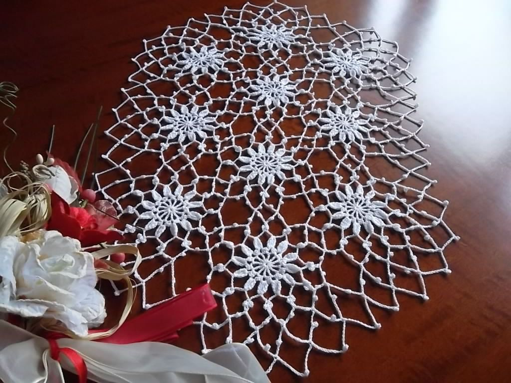 Large crochet oval doily lace gift for mom table decoration table large crochet oval doily lace easter decoration table runner placemat white cotton centerpiece unique birthday gift negle Choice Image