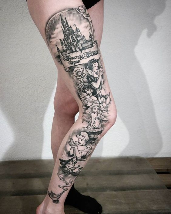Photo of 22 Liebenswert Bunt Und Schwarz Ink, Disney Tattoos | Blaumode.com