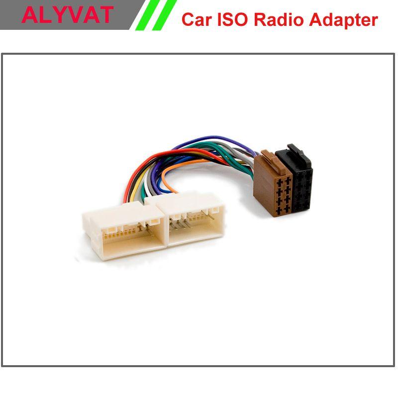 Car ISO Stereo Adapter Connector For Hyundai iX-35 Solaris i-25 ...