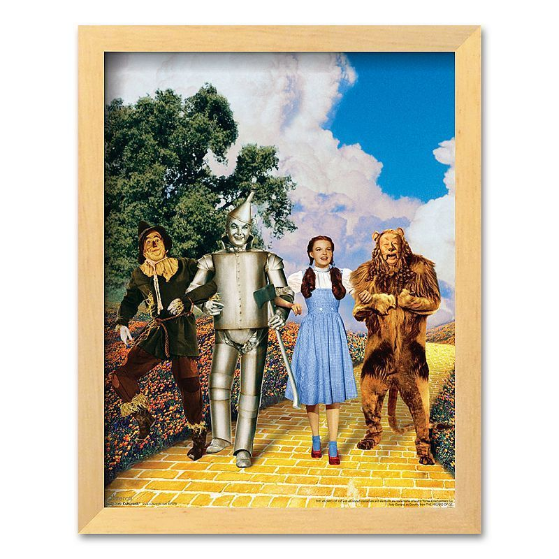 Art com  The Wizard of Oz Glitter Yellow Brick Road  Framed Art Print is part of Yellow Home Accessories Shops -