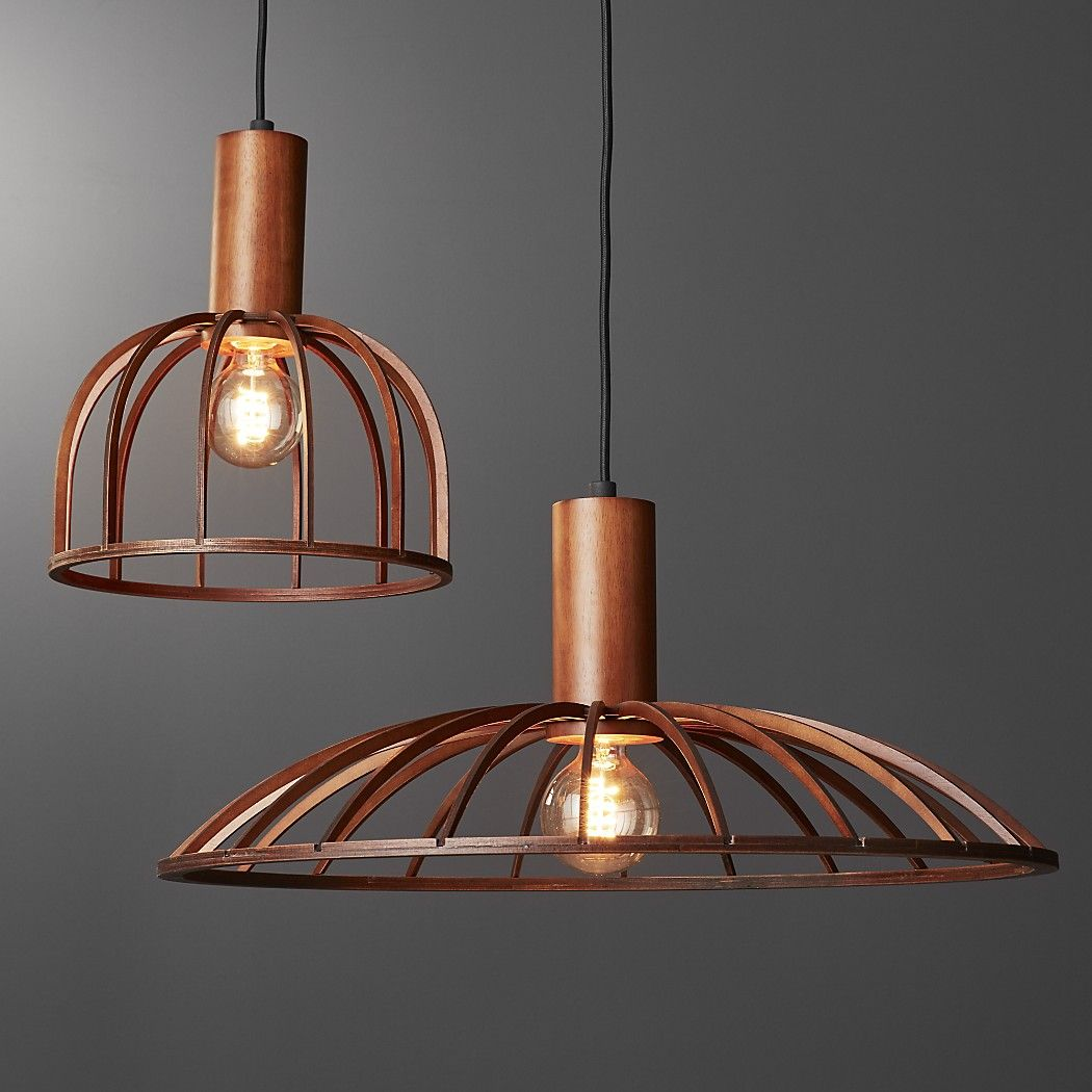 Shop Mermelada Small Wood Cage Pendant Light Small Wooden Pendant Light Cages In A Single Bulb A Wooden Pendant Lighting Cage Pendant Light Wood Pendant Light