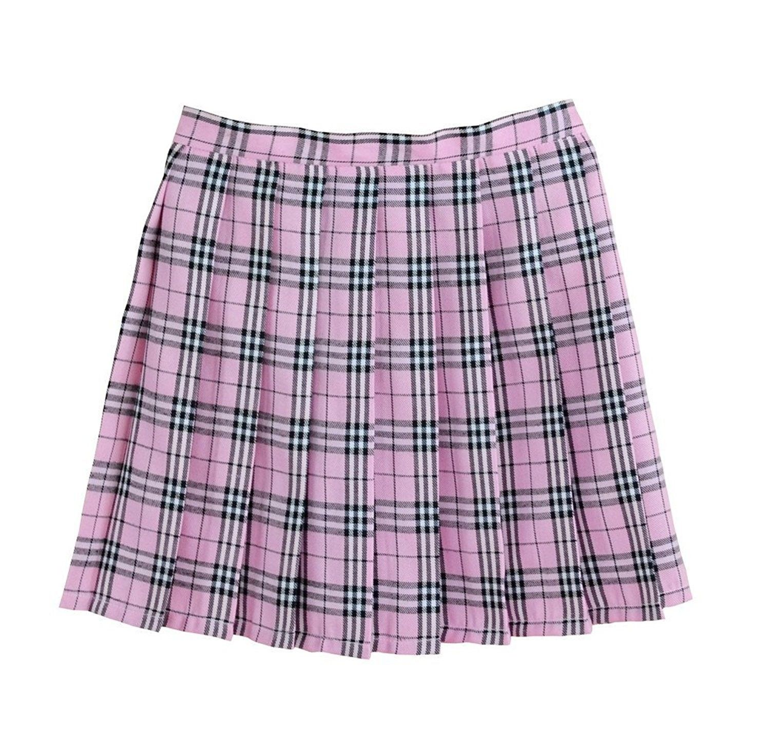 606dfb089f Women School Uniforms Plaid Pleated Mini Skirt - Pink - C212G4DIKOB,Women's  Clothing, Skirts #women #clothing #fashion #style #sexy #outfits #Skirts