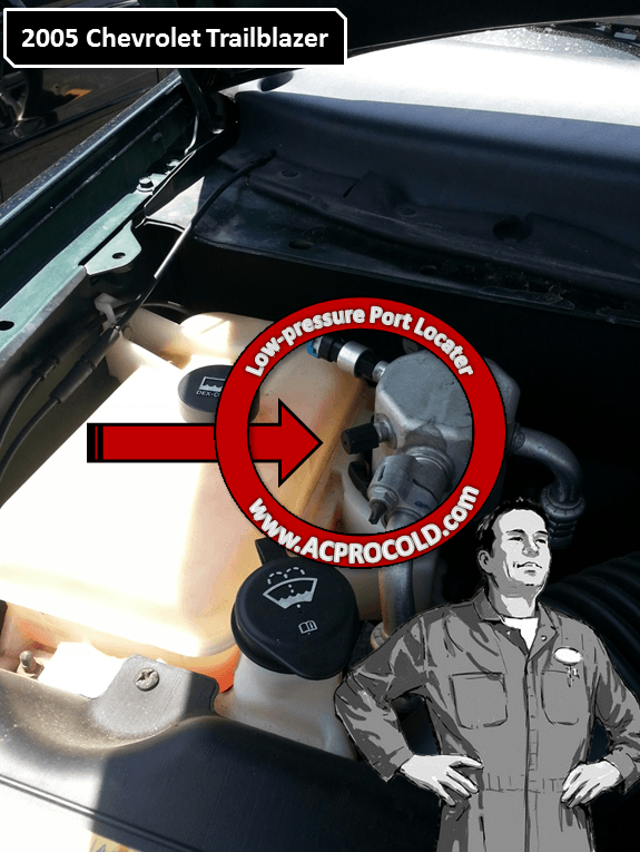 2005 Chevrolet Trailblazer - Low Side Port for A/C Recharge