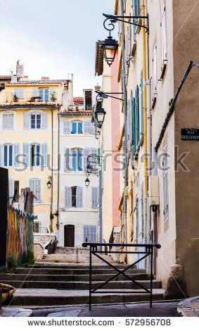 MARSEILLES, FRANCE - FEBRUARY, 2017: Old district of Le Panier, Marseilles