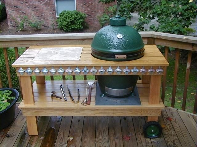 BGE Table. We love it and the Big Green Egg was a very good ...