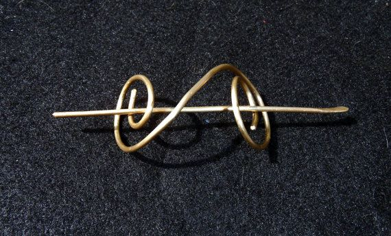 Brass Hair Jewelry for sca. Could totally be Viking
