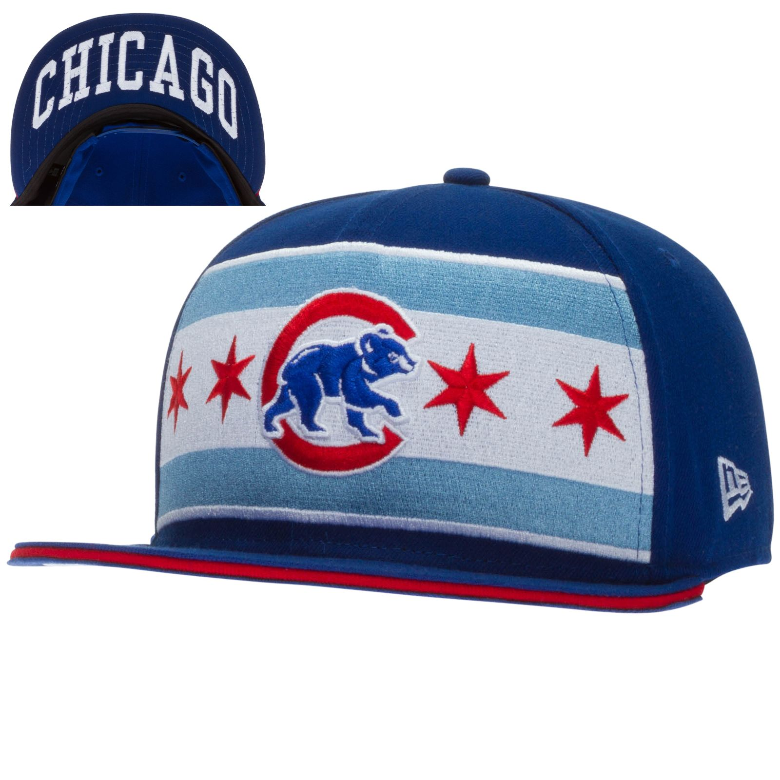 Chicago Cubs Hat With Chicago Flag
