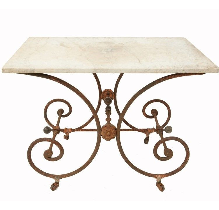 Antique Pastry Table with Marble, I love this table