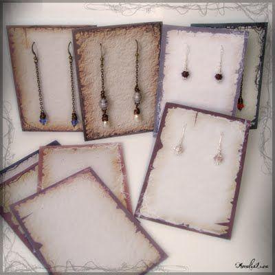 Free Printable Earring Display Cards Diy Earring Cards Earring Cards Template Printable Jewelry Tags