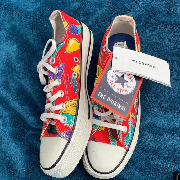 a1d978a8a817 NWT RARE CONVERSE ALLSTAR SNEAKERS FRUIT PRINT Brand new with tag Converse  sneakers with red background