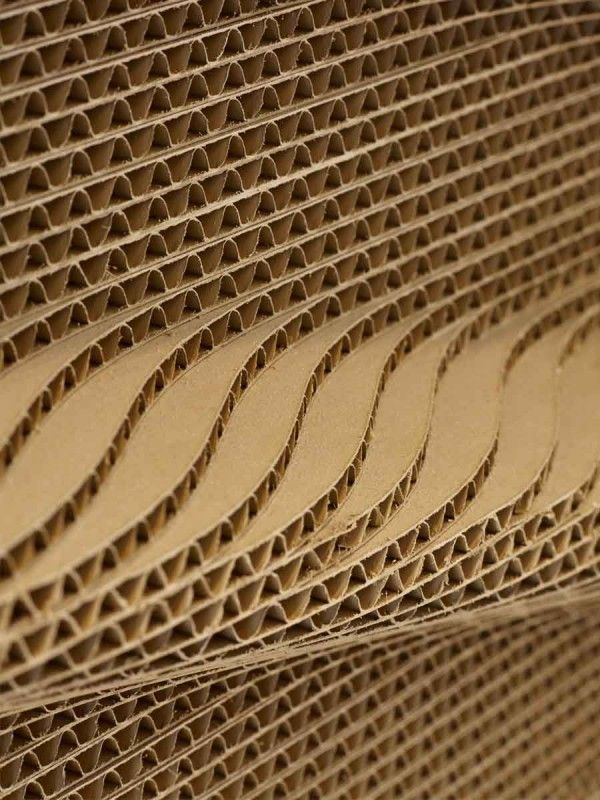 International house london cardboard wall panels by for International decor surfaces