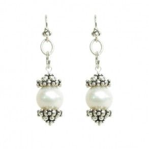 Laura Gibson Jewelry - Sterling Silver and Fresh Water Pearl Earrings