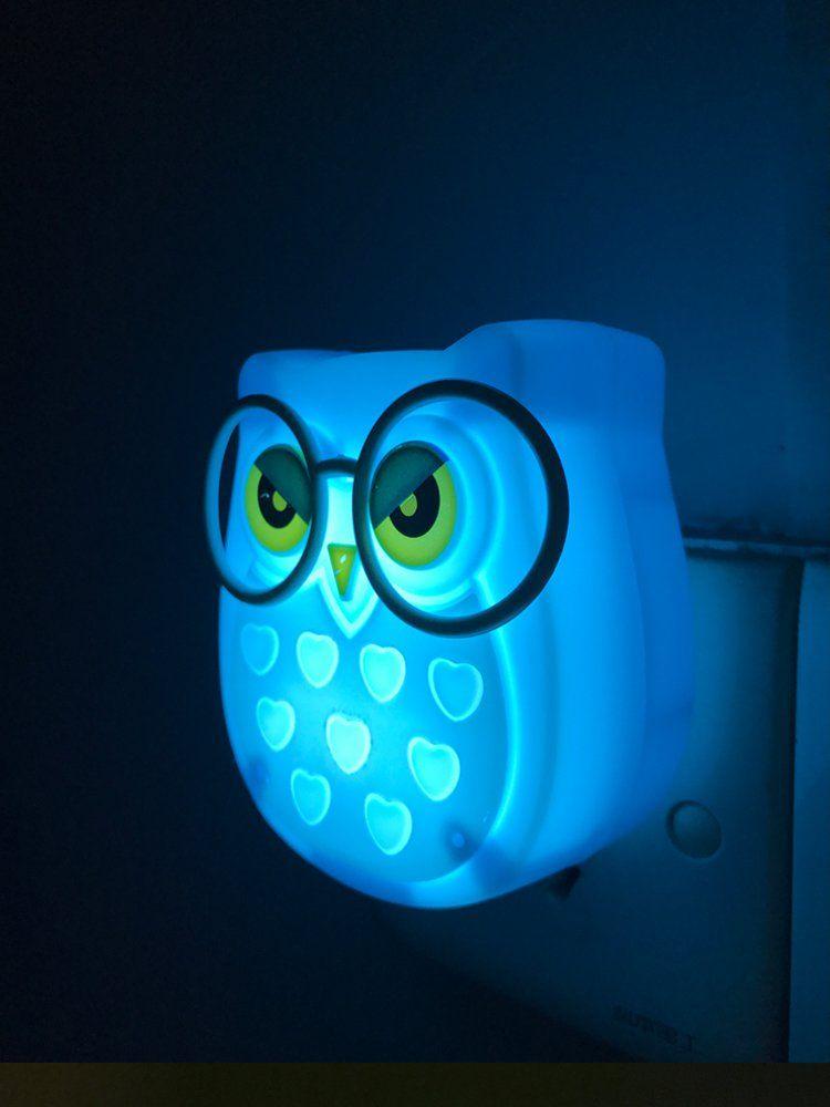 1 Pair Led Plugin Night Light For Kids A Light Sensor Controlled