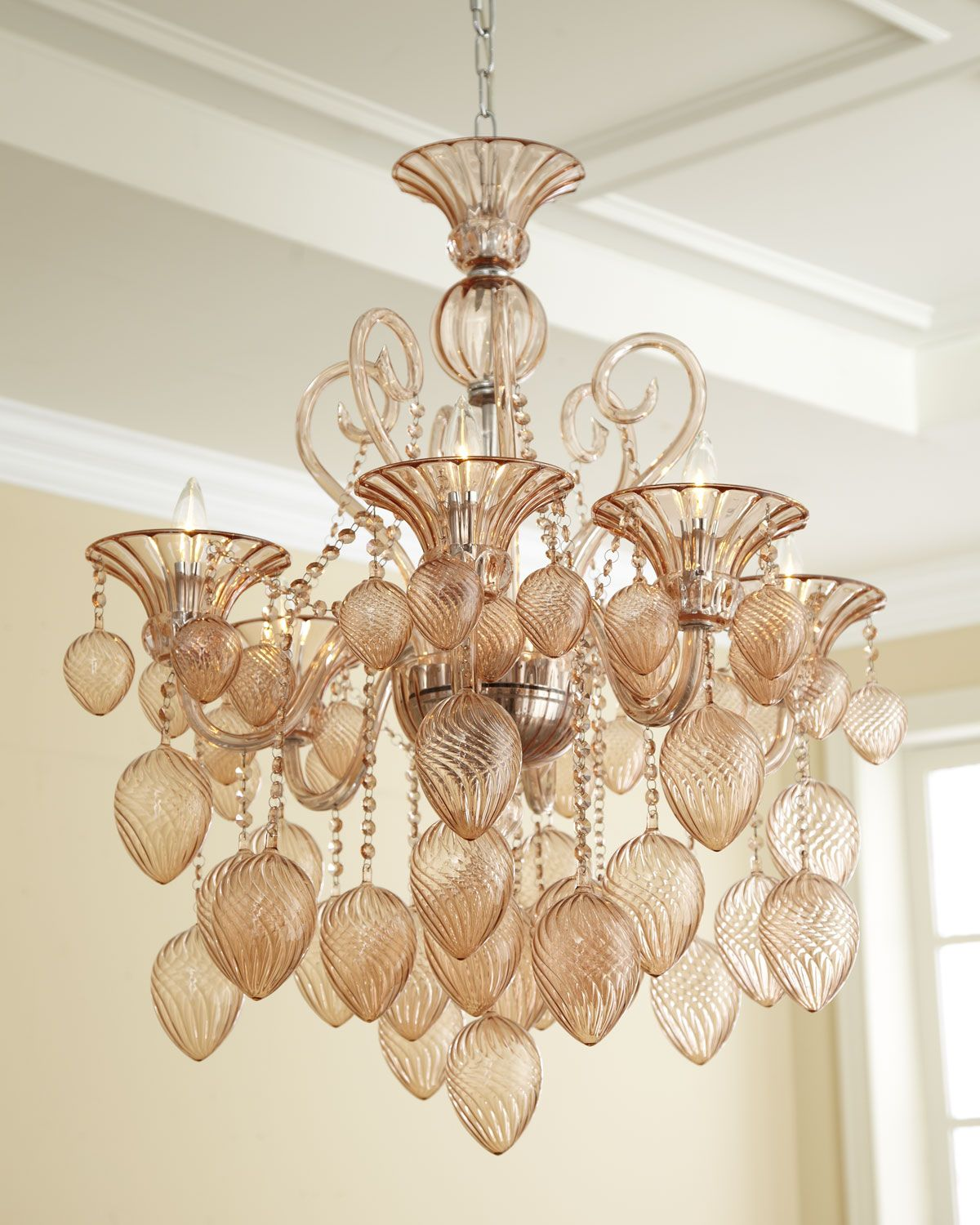 horchow lighting chandeliers. Blush 6-Light Chandelier Horchow Lighting Chandeliers N