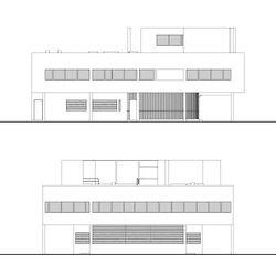 Villa Savoye Plan Coupe Facade