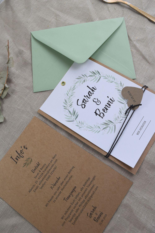 Tarjetas de invitación – Tarjeta vintage moderna «amor floreciente» – una pieza de diseño …