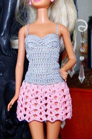 Vestido de crochê para Barbie passo a passo PAP