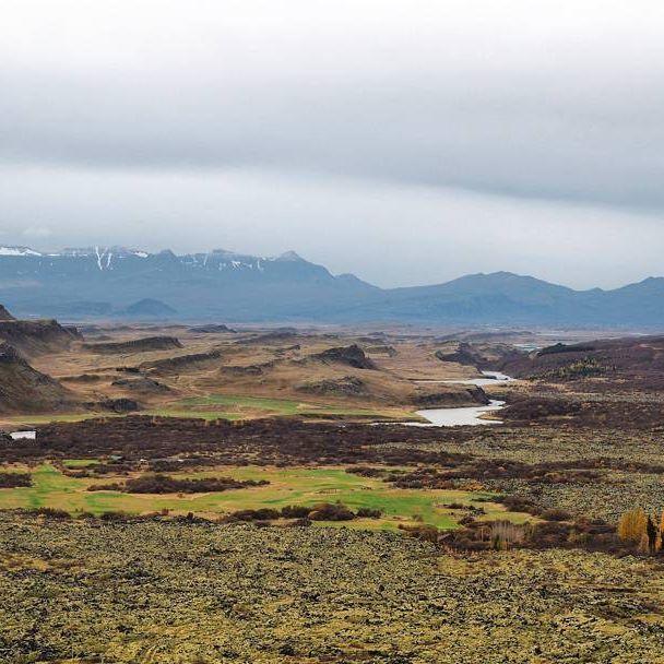 Beautiful Iceland Island Landschaft Herbst Urlaub Horizont