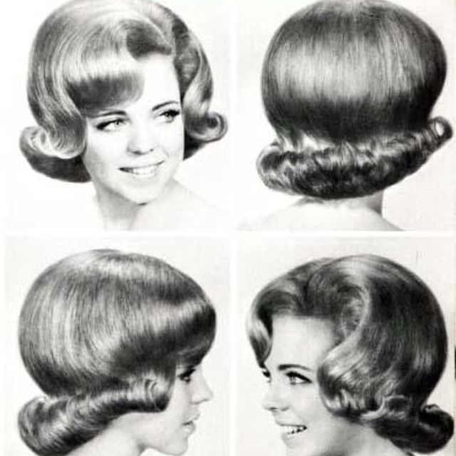 1960's Hairstyles Turd Roll Hairdo In The 60'ssexy  Not   1960's Hair Styles