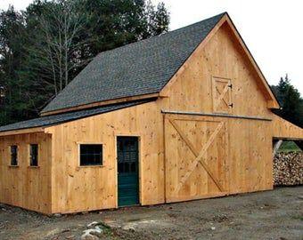 19 Backyard Barn Plans - Complete Pole-Barn Construction Blueprints