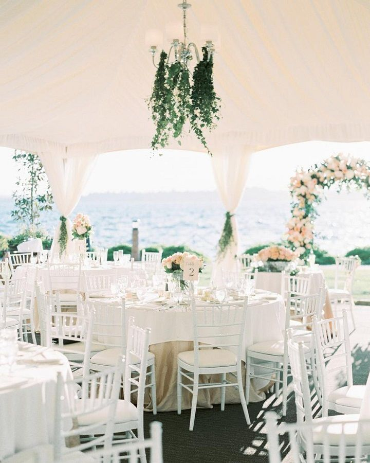 Tent Wedding Reception Ideas ,beach side wedding reception under tent,neutral wedding #weddingreception #weddingdecor #elegantwedding