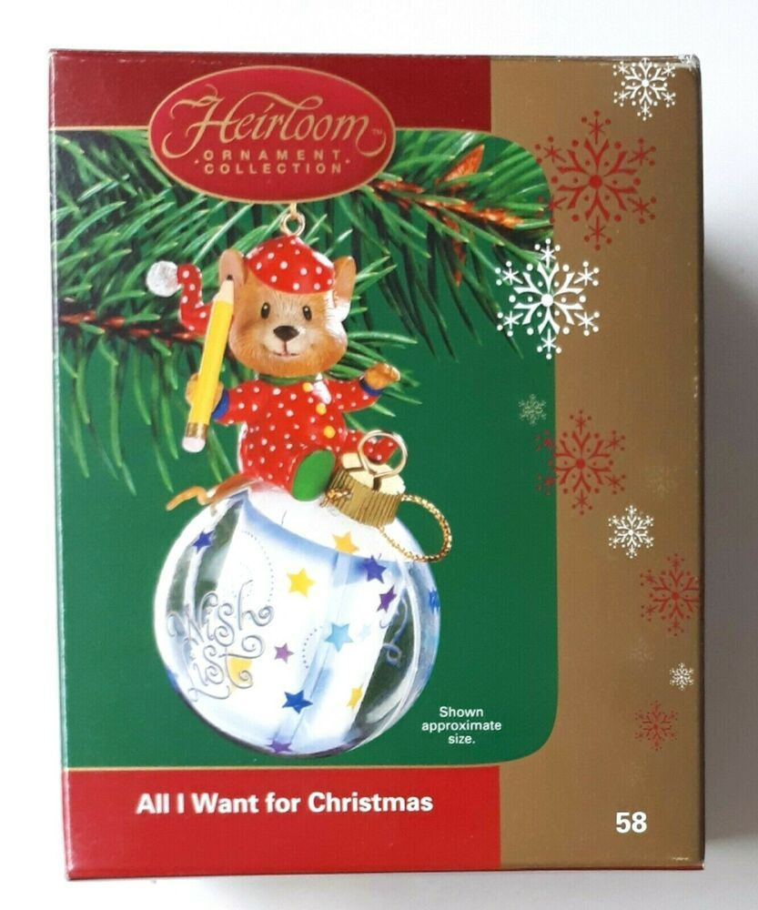 Carlton Cards Heirloom All I Want For Christmas 58 Ornament