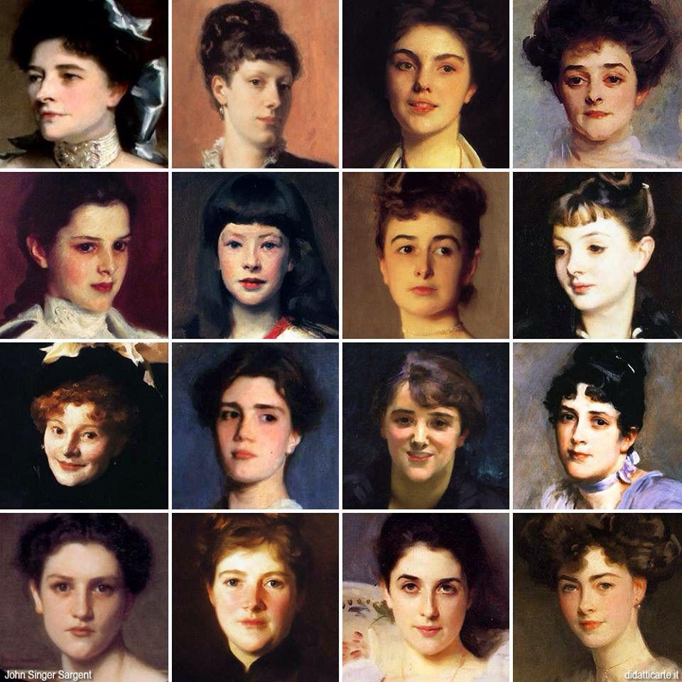 John Singer Sargent, volti femminili