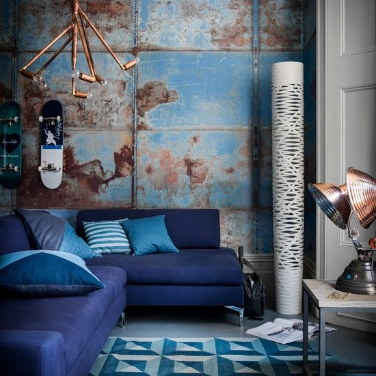 Looking For Great Living Room Decorating Ideas Take A Look At This Modern Blue From Livingetc Inspiration More
