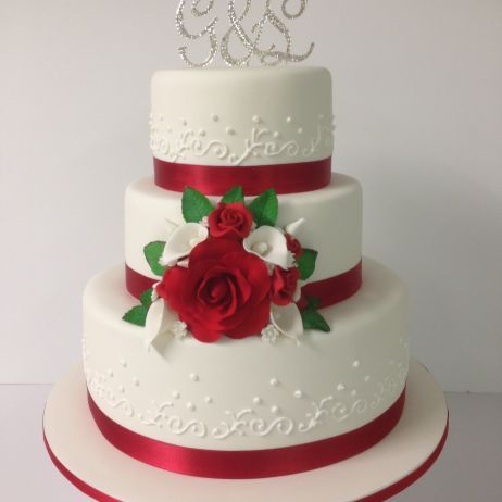 Red And White Wedding Cakes Google Search