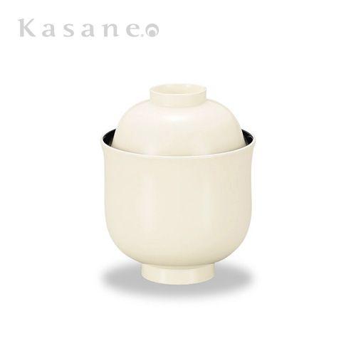 《漆器|山久漆工Kasane》ありそうでなかったこの形とこの色の組み合わせデザイン。当店の大人気蓋つきお椀です。百合形小吸椀 白内黒