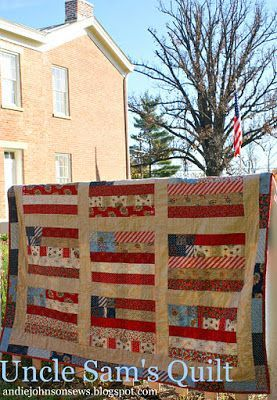 Uncle Sam's Quilt with American Banner RoseTutorial on the Moda Bake Shop. http://www.modabakeshop.com