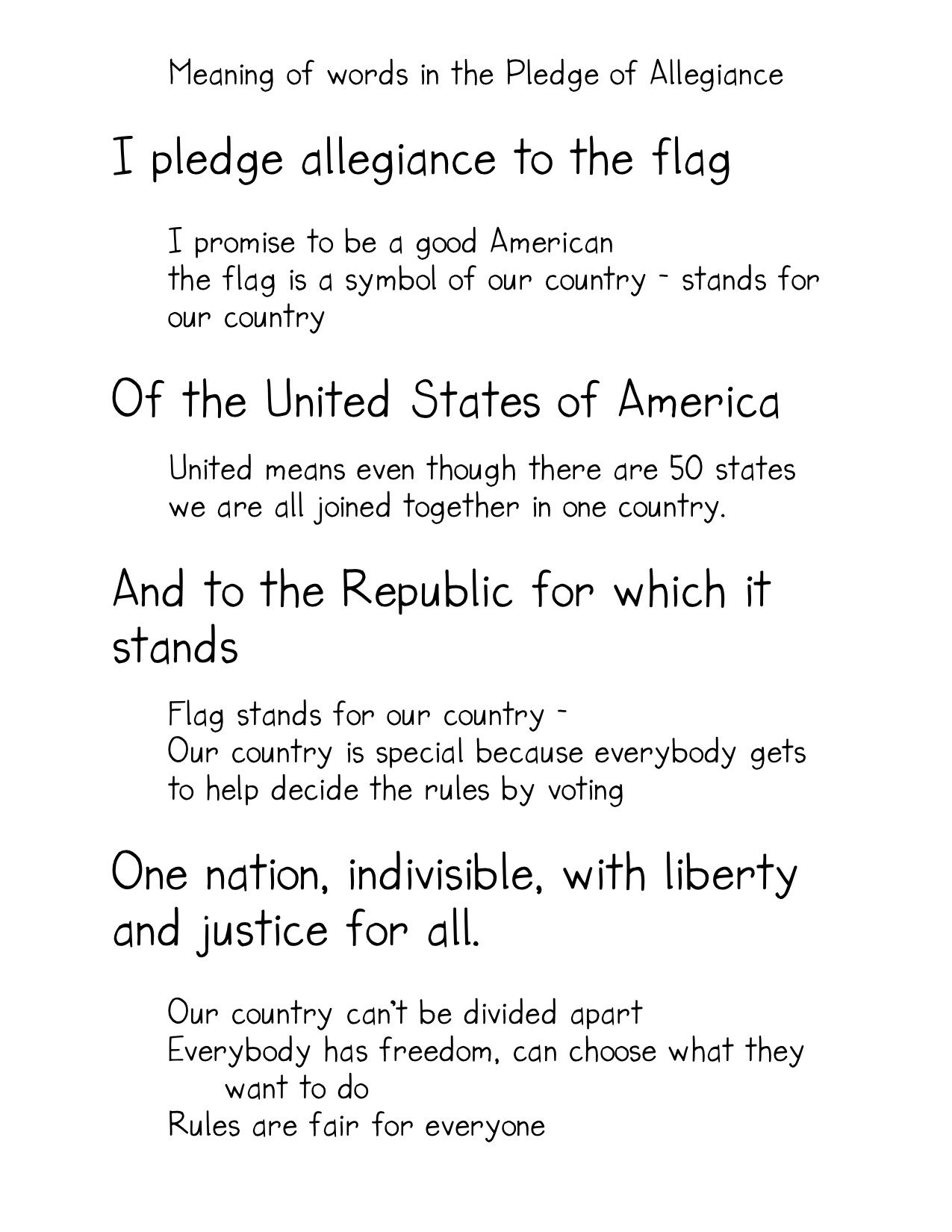 The Pledge Of Allegiance