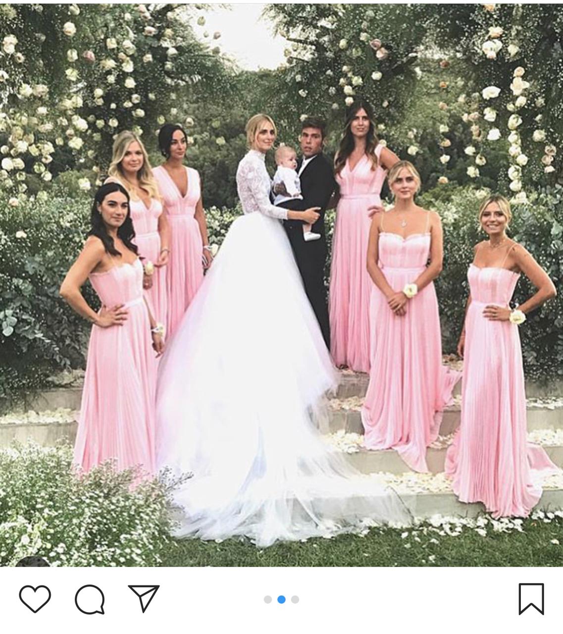 Dior wedding dresses  Chiara Ferragni il primo cambio duabito da signora Fedez  The