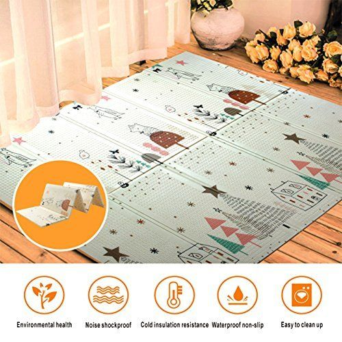 Baby Play Mat Fold Care Foam Floor Gym Slip Extra Large Reversible Waterproof Portable Double Sides Kids Toddler Outdoor Or Indoor
