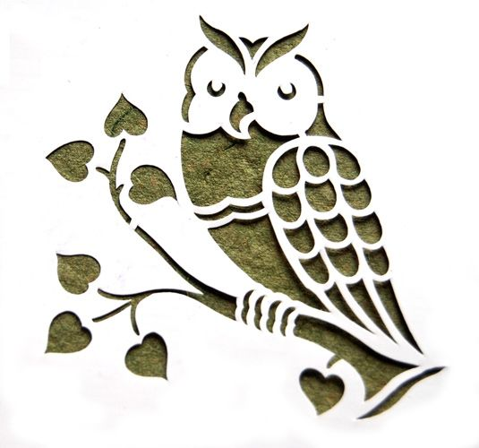 Redbug Owl Stenciled Lamp Shades Online India, Buy Art ...