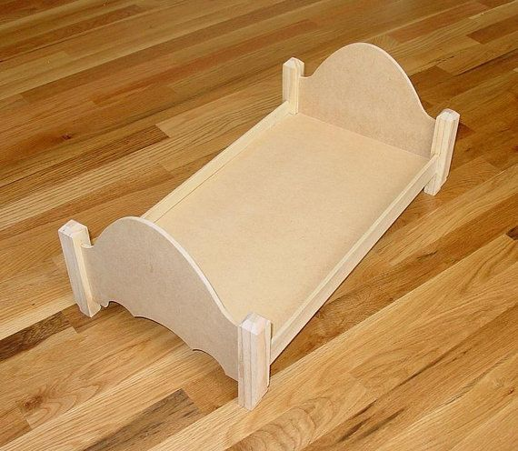 Unfinished Doll Bed Or Sofa For American By