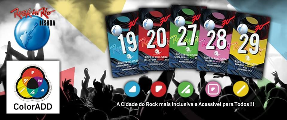ColorADD at Rock in Rio Lisboa.   #rockinrio #coloradd #rockinriolisboa2016 #cidadedorock #colorisforall #acoréparatodos #inovação #innovation